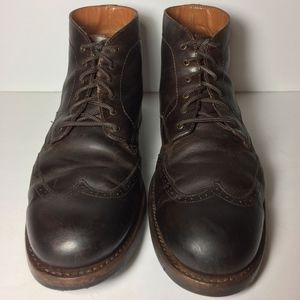 Wolverine 1000 Mile Brown Wingtip Boot Size 10.5 D